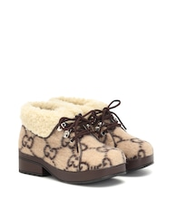GG wool ankle boots