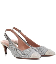 Checked slingback pumps