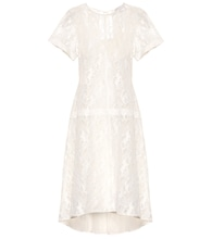 Cotton-blend lace dress