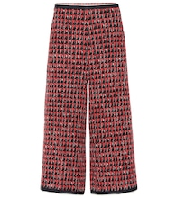 Cropped-Hose aus Tweed