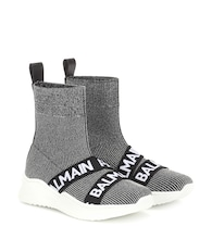 Logo sock sneakers