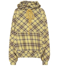 Checked cotton hoodie