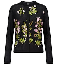 Floral cashmere and silk cardigan