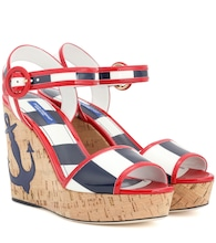 Sriped wedge sandals