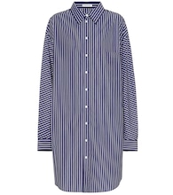 Oversized striped cotton shirt dress