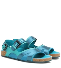 Sandalen The Field aus Leder und Satin
