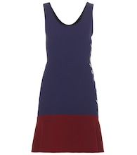 Two-tone crêpe dress