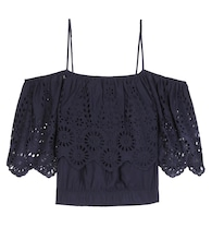 Yoko lace-trimmed off-the-shoulder blouse