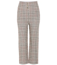 Jaz plaid linen trousers