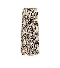 Lawrence printed silk midi skirt