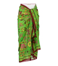 Printed cotton and silk sarong