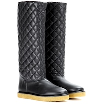 Brompton faux-leather boots