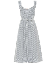 Patti gingham wool-blend dress