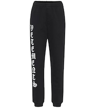 Logo cotton-jersey trackpants