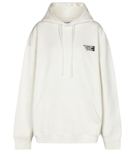 Logo oversized cotton-blend hoodie