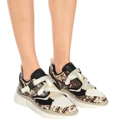 Sonnie Snake-Effect Leather Sneakers
