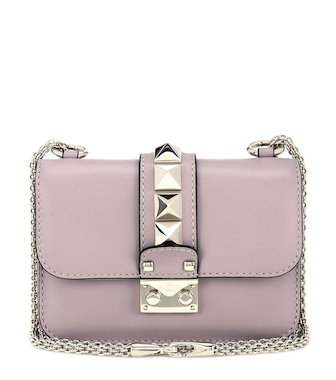 Valentino - Valentino Garavani Lock Mini leather shoulder bag - mytheresa.com