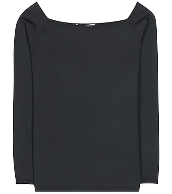 Valentino - Knitted silk-blend top - mytheresa.com