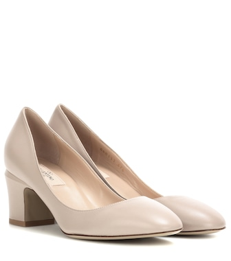 Valentino - Valentino Garavani Tan-go leather pumps - mytheresa.com