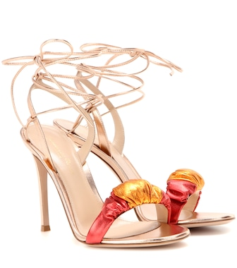 Gianvito Rossi - Exclusive to mytheresa.com – Belle metallic leather sandals - mytheresa.com
