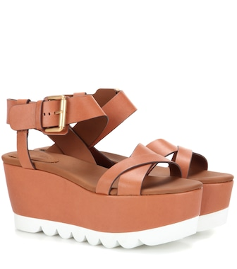 See By Chloé - Platform leather sandals - mytheresa.com