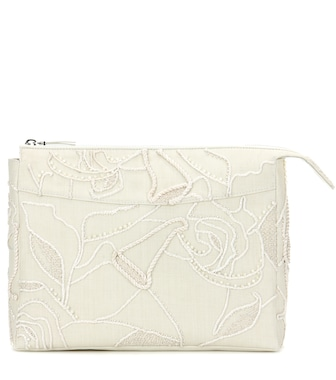 The Row - Two For One 12 embellished canvas clutch - mytheresa.com