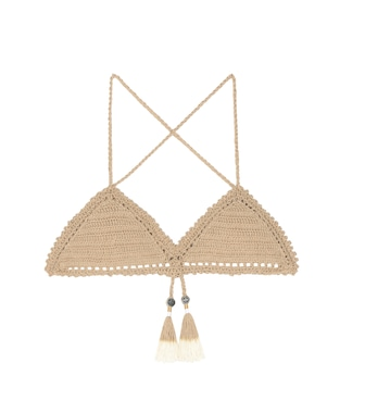 She Made Me - Essential Fixed Triangle crochet bikini top - mytheresa.com