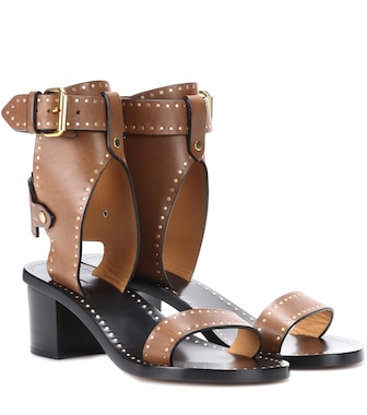 Isabel Marant - Jaeryn studded leather sandals - mytheresa.com