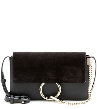 Chloé - Faye Small leather shoulder bag - mytheresa.com