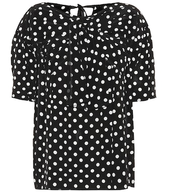 Marc Jacobs - Polka-dot silk top - mytheresa.com