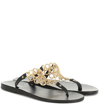 Ancient Greek Sandals - Sandalen Fokida mit Leder - mytheresa.com