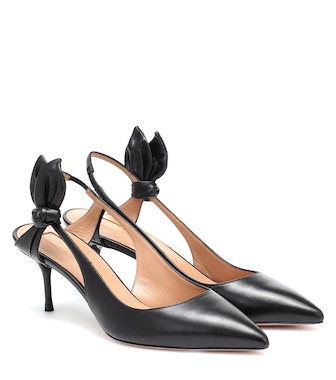 Aquazzura - Drew 60 leather slingback pumps - mytheresa.com