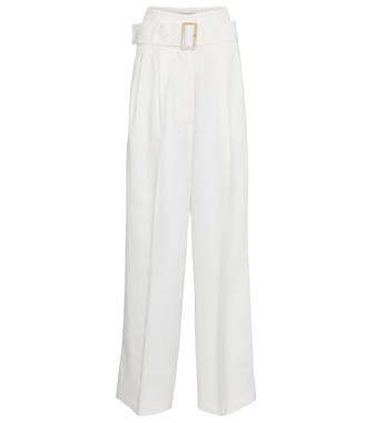 Golden Goose - Cleofe belted high-rise wide-leg pants - mytheresa.com