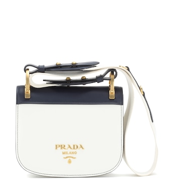 Prada - Pionnière leather shoulder bag - mytheresa.com