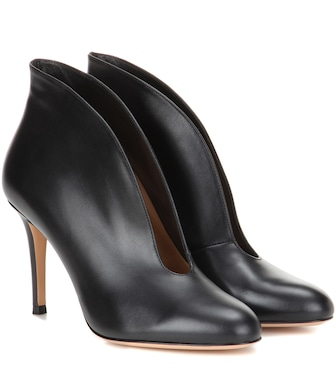 Gianvito Rossi - Exclusive to mytheresa.com – Vamp 85 leather ankle boots - mytheresa.com