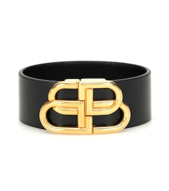 Balenciaga - BB leather bracelet - mytheresa.com