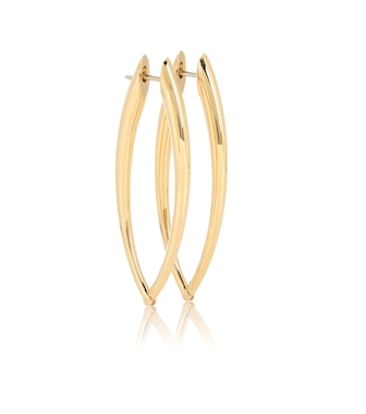 Melissa Kaye - Cristina 18kt gold hoop earrings - mytheresa.com
