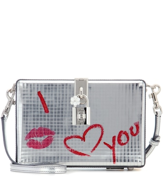 Dolce & Gabbana - Dolce Box leather clutch - mytheresa.com