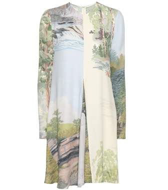 Stella McCartney - Sia printed crêpe dress - mytheresa.com