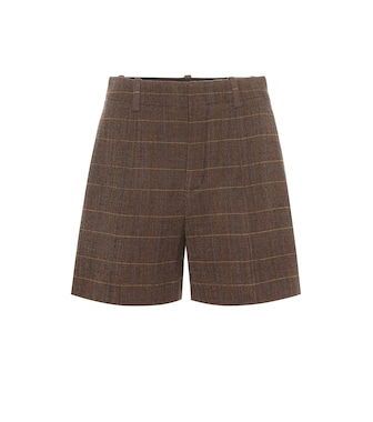 Chloé - High-rise checked wool shorts - mytheresa.com