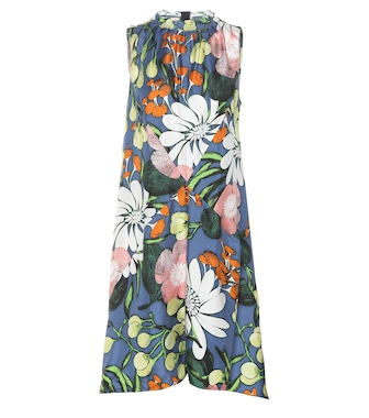 Marni - Printed silk dress - mytheresa.com