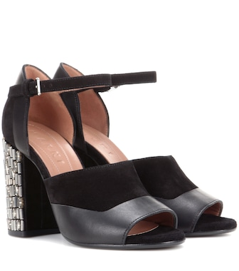 Marni - Leather and suede sandals - mytheresa.com
