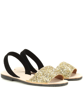 Del Rio London - Glitter and suede sandals - mytheresa.com
