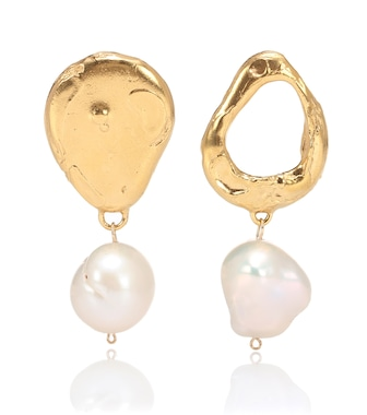 Alighieri - The Infernal Storm 24kt gold-plated and pearl earrings - mytheresa.com