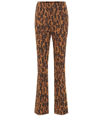Miu Miu - High-rise flared stretch-wool pants - mytheresa.com