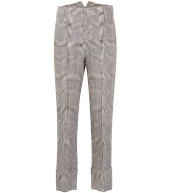Brunello Cucinelli - Checked linen pants - mytheresa.com