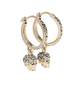 Alexander McQueen - Skull crystal-embellished earrings - mytheresa.com