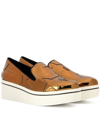Stella McCartney - Star Binx metallic platform loafers - mytheresa.com