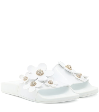 Marc Jacobs - Embellished jelly slides - mytheresa.com