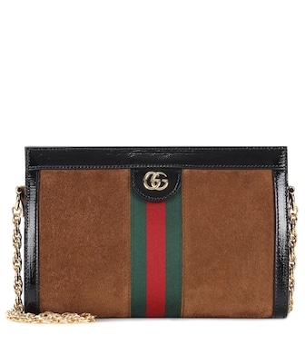 Gucci - Ophidia GG Small suede shoulder bag - mytheresa.com